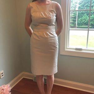 J. Crew Cream Cotton Sleeveless Dress